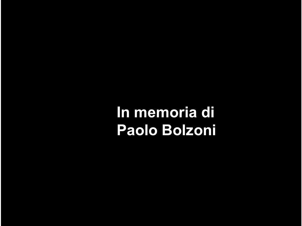 In memoria di Paolo Bolzoni