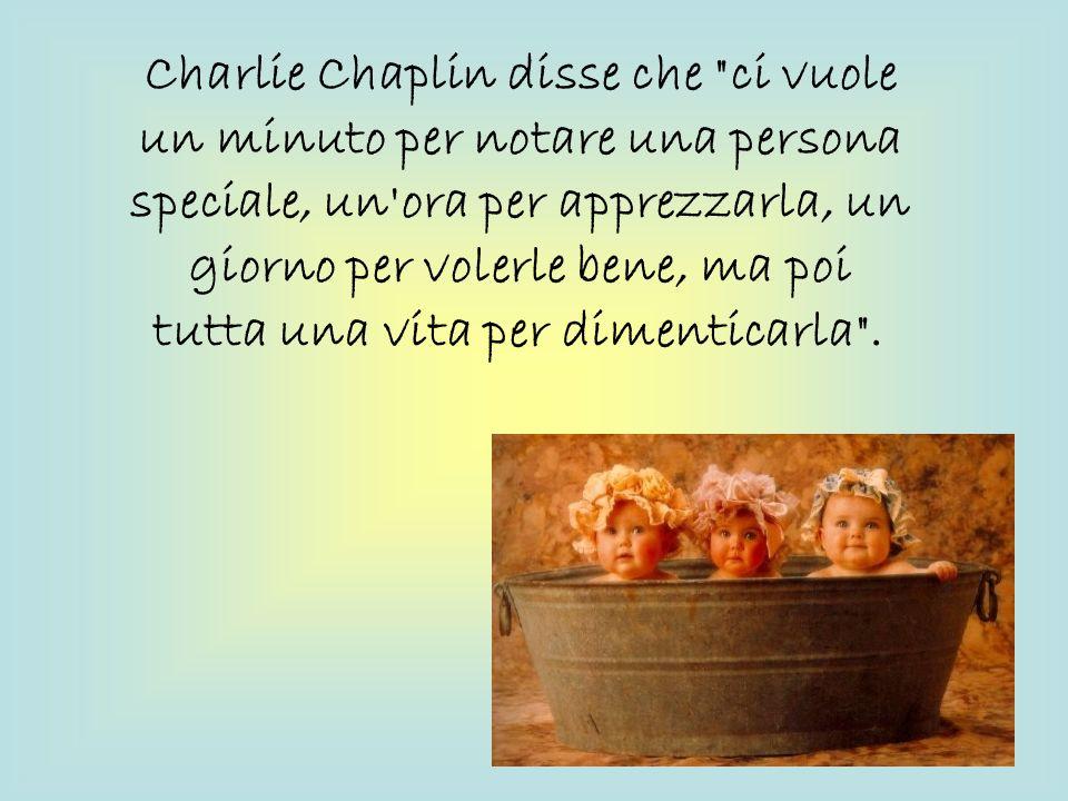 Charlie Chaplin disse che