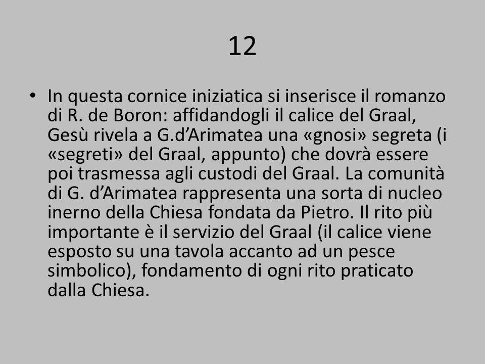 12 In questa cornice iniziatica si inserisce il romanzo di R.