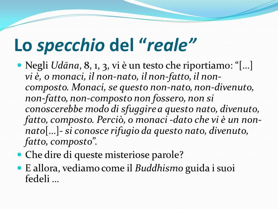 Lo specchio del reale Negli Udāna, 8, 1, 3, vi è un testo che riportiamo: […] vi è, o monaci, il non-nato, il non-fatto, il non- composto. Monaci, se