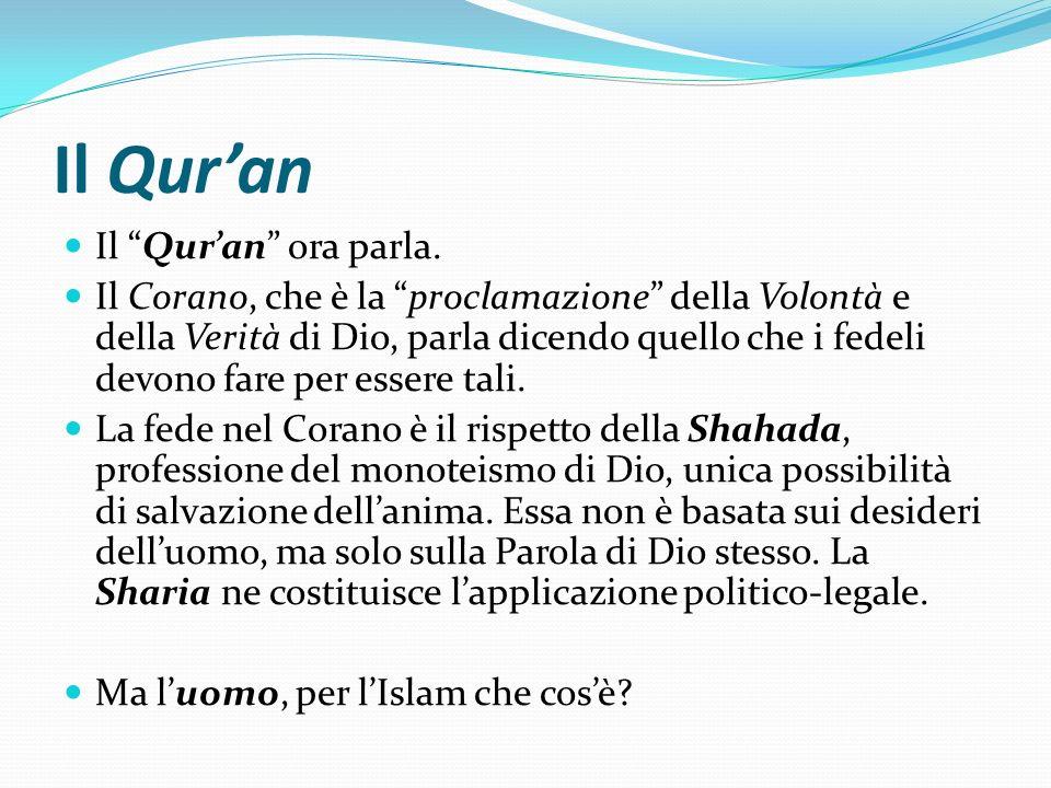 Il Quran Il Quran ora parla. Il Corano, che è la proclamazione della Volontà e della Verità di Dio, parla dicendo quello che i fedeli devono fare per