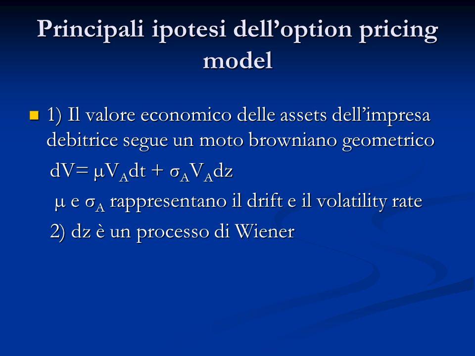 Una volta descritto il modello utilizzato e definito il default quale evento probabilistico che il valore delle assets dellimpresa debitrice al tempo t sia inferiore al suo debito, possiamo stimare sia la probabilità di default che il recovery rate