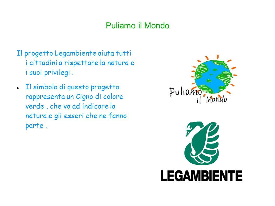 Puliamo il Mondo Il progetto Legambiente aiuta tutti i cittadini a rispettare la natura e i suoi privilegi.