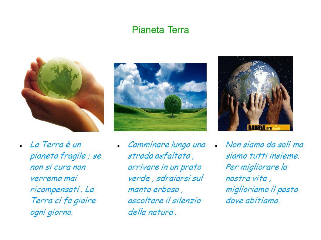 Pianeta Terra Non siamo da soli ma siamo tutti insieme.