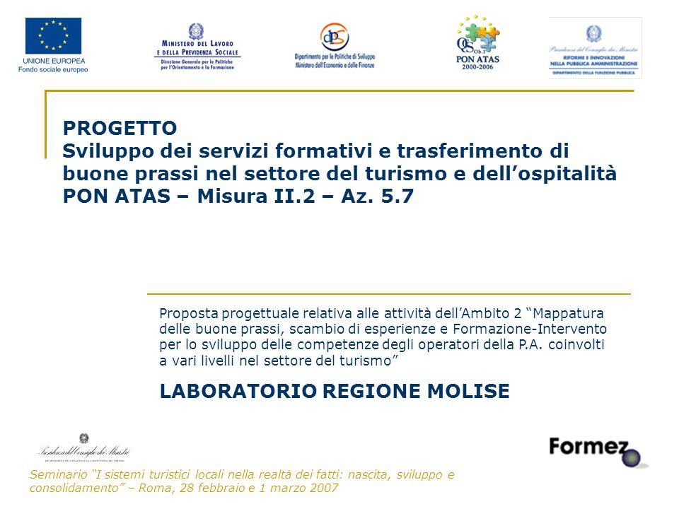 Seminario I sistemi turistici locali nella realtà dei fatti: nascita, sviluppo e consolidamento – Roma, 28 febbraio e 1 marzo 2007 1 PROGETTO Sviluppo