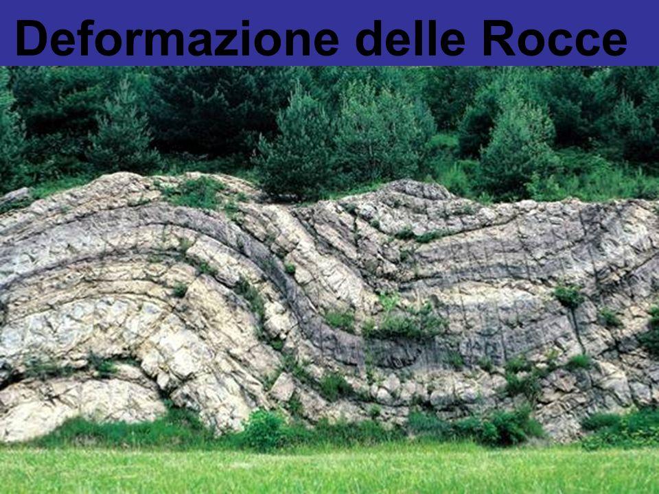 La Deformazione delle Rocce Le rocce, sottoposte a sforzi (generati da processi attivi allinterno della terra), possono deformarsi in maniera:.Elastica (fragile) Fratturazione.Plastica Piegamenti.Elastoplastica Condizioni intermedie