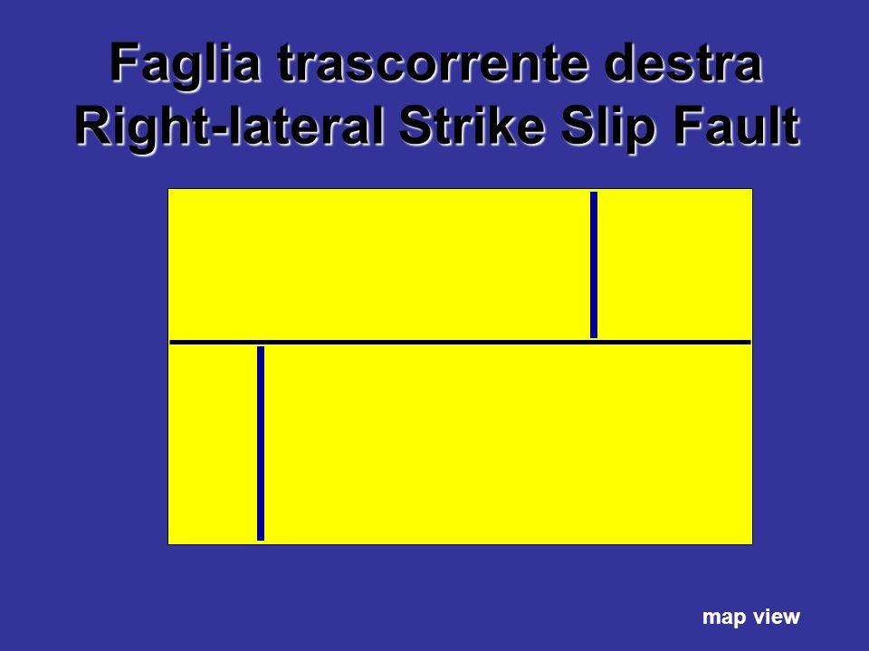 Faglia trascorrente destra Right-lateral Strike Slip Fault map view