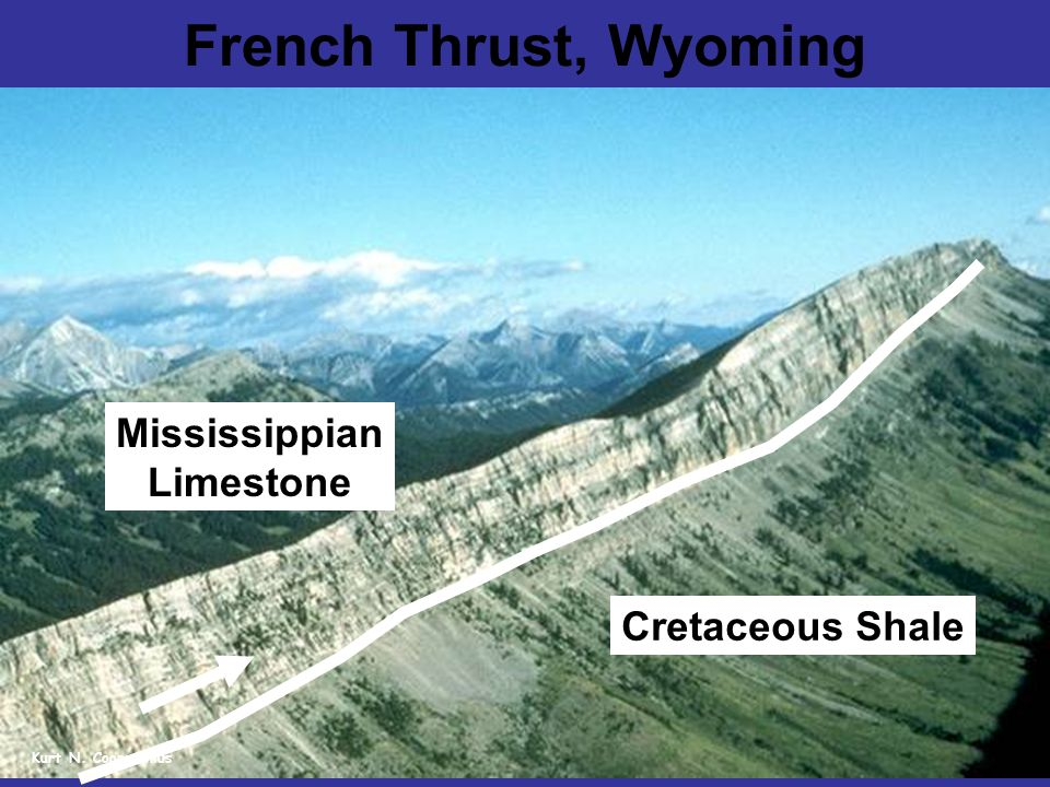 French Thrust, Wyoming Cretaceous Shale Mississippian Limestone Kurt N. Coonstenius