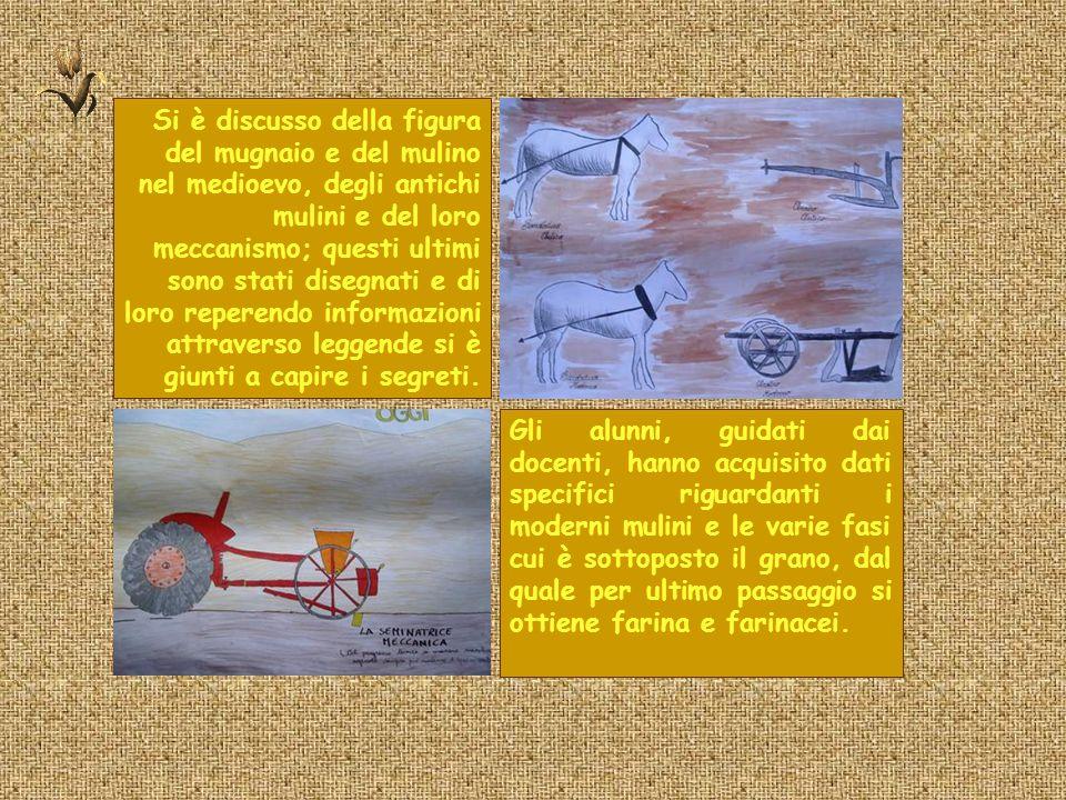 Si è discusso della figura del mugnaio e del mulino nel medioevo, degli antichi mulini e del loro meccanismo; questi ultimi sono stati disegnati e di
