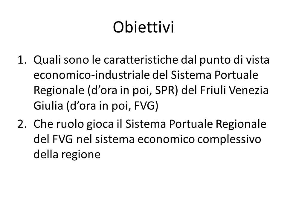 Obiettivi 1.Quali sono le caratteristiche dal punto di vista economico-industriale del Sistema Portuale Regionale (dora in poi, SPR) del Friuli Venezi