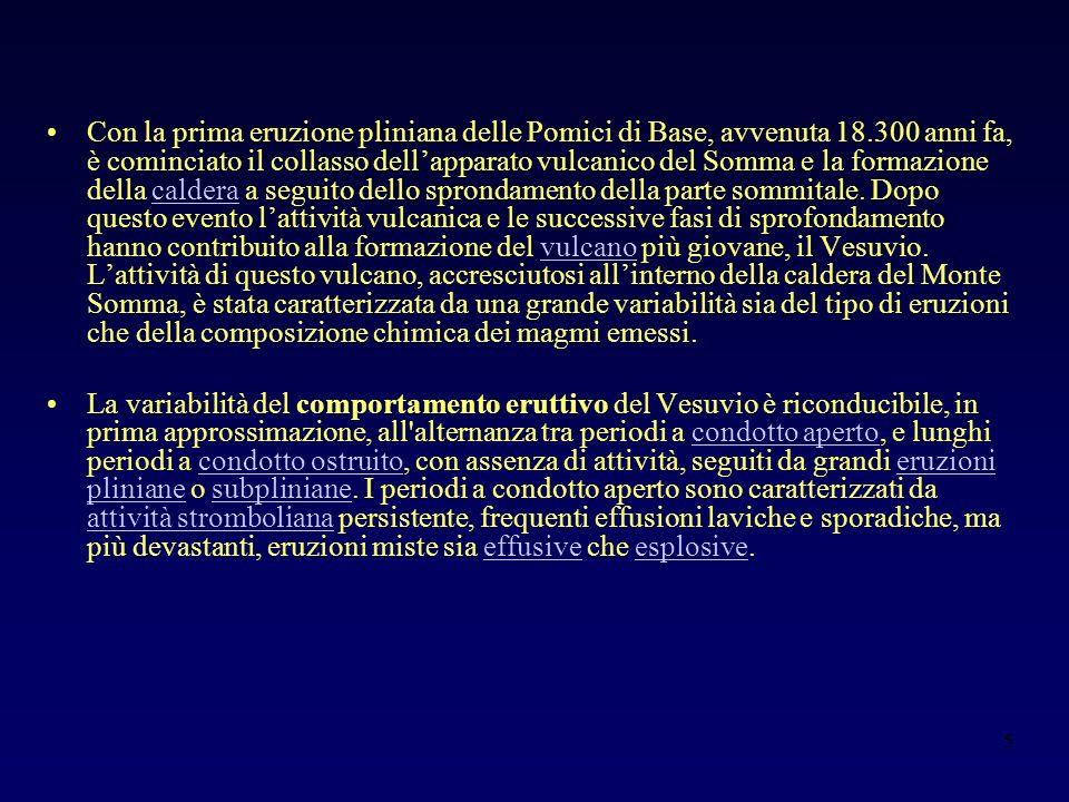 26 Colonna eruttiva sostenuta Eruzione del 1631 Isopache (cm) Fase di colonna sostenuta