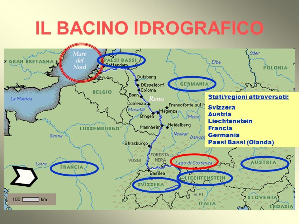 I DATI Lunghezza: 1.326 km Stati/regioni attraversati: 1 - Svizzera 2 - Austria 3 - Liechtenstein 4 - Francia 5 - Germania 6 - Paesi Bassi (Olanda) 2