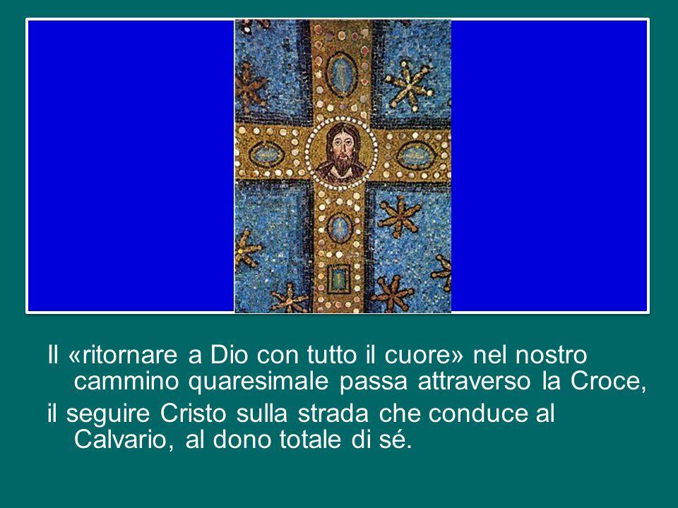 La riconciliazione che ci viene offerta ha avuto un prezzo altissimo, quello della croce innalzata sul Golgota, su cui è stato appeso il Figlio di Dio