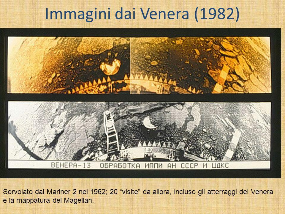 Immagini dai Venera (1982) Sorvolato dal Mariner 2 nel 1962; 20 visite da allora, incluso gli atterraggi dei Venera e la mappatura del Magellan.