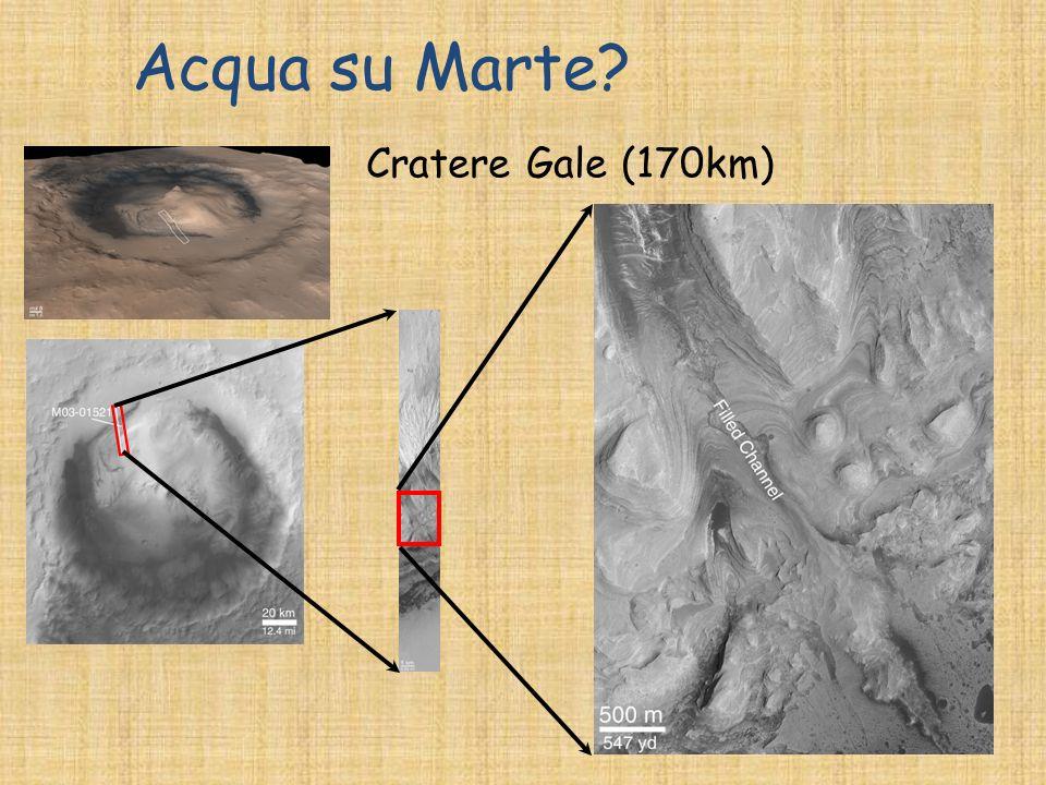 Acqua su Marte? Cratere Gale (170km)