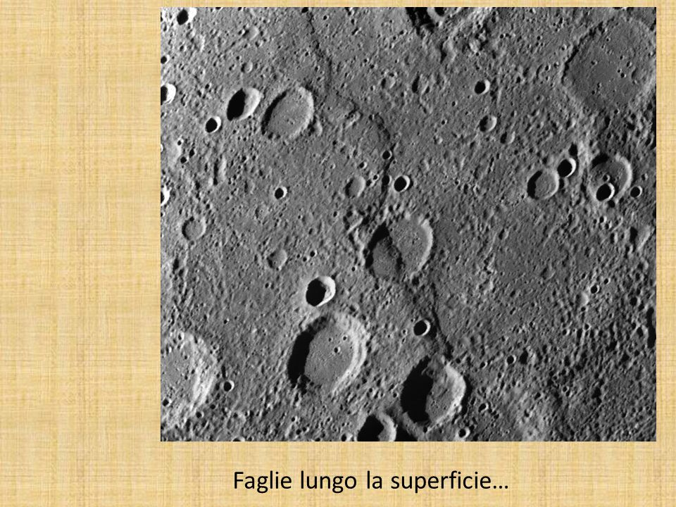 Molto denso: 5.43 g/cm 3 La superficie è di materiale simile a quello lunare.
