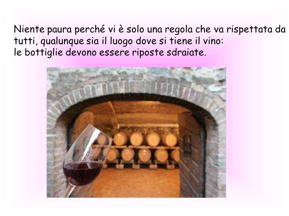 Niente paura perché vi è solo una regola che va rispettata da tutti, qualunque sia il luogo dove si tiene il vino: le bottiglie devono essere riposte