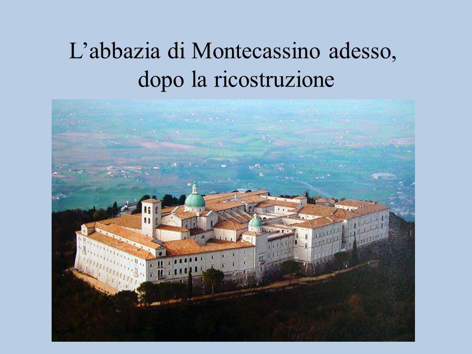 Labbazia di Montecassino dopo i bombardamenti del 1944 «Ci sembra ancora incredibile che la guerra abbia compiuto contro questa abbazia… uno dei gesti