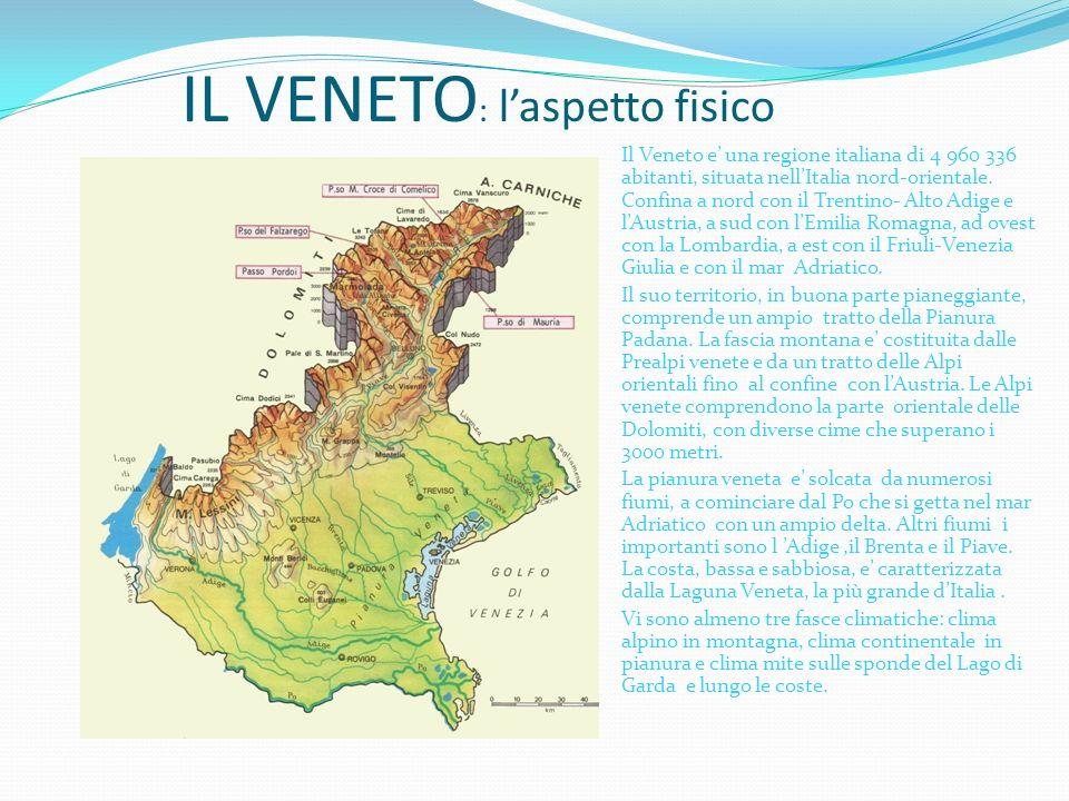 I L VENETO A CURA DI ALESSANDRO PIETRO CALLIPARI CLASSE V B – ANNO SCOLASTICO 2012/2013