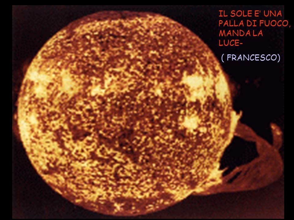 IL SOLE E UNA PALLA DI FUOCO, MANDA LA LUCE- ( FRANCESCO)