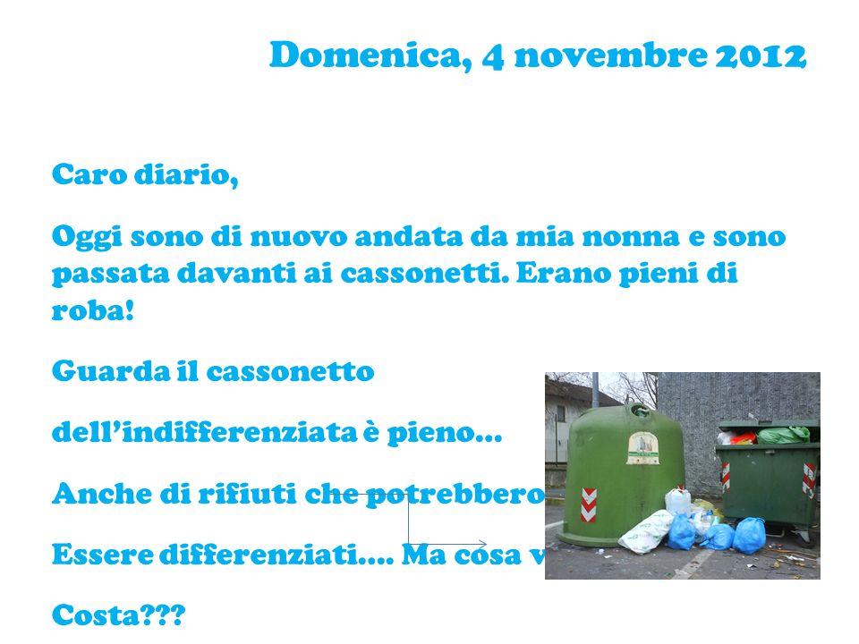 Domenica,11 novembre 2012 Caro diario, Mi dispiace molto perché è da tanto che non ti scrivo.