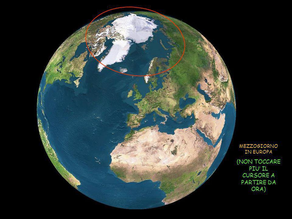 Attraverso le immagini dal satellite, vediamo come il sole rischiara la terra il 21 giugno =solstizio destate = giorno più lungo dellanno nellemisfero