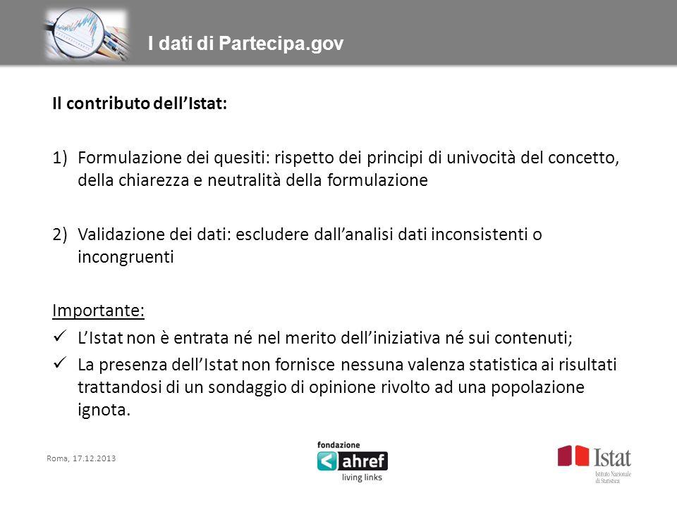 Il contributo dellIstat: 1)Formulazione dei quesiti: rispetto dei principi di univocità del concetto, della chiarezza e neutralità della formulazione