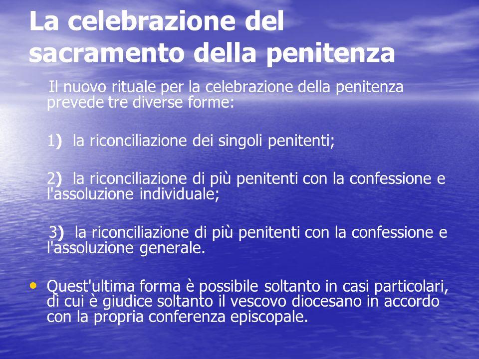 Breve storia della Penitenza … Il concilio Laterano IV (1215) e poi il concilio di Trento (1545 1563) stabiliscono questa forma di penitenza necessari