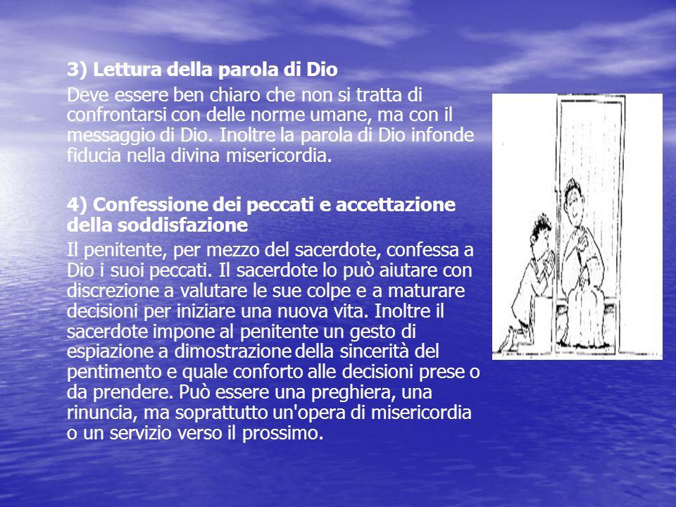 Il rito, con i dovuti adattamenti secondo le tre diverse forme, si articola come segue: 1) Preparazione del sacerdote e del penitente Entrambi, prima