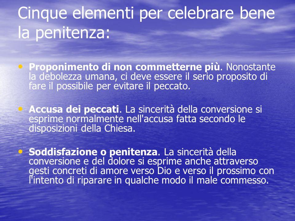 Cinque elementi per celebrare bene la penitenza: Esame di coscienza. E' necessario prepararsi alla confessione esaminando con coraggiosa sincerità la
