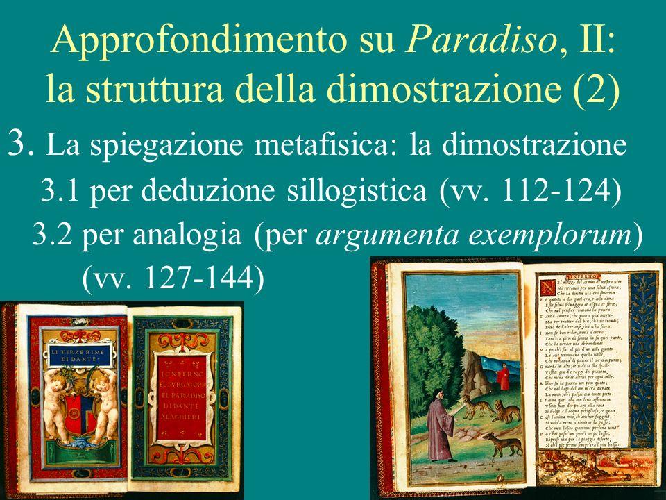 15 Approfondimento su Paradiso, II: la struttura della dimostrazione (2) 3.