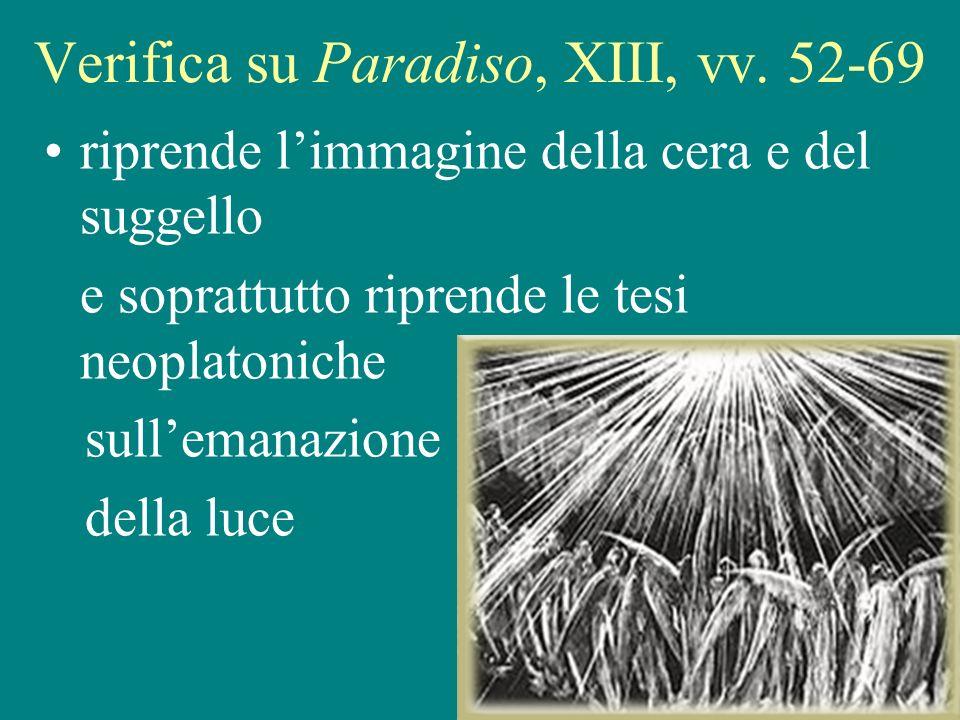 25 Verifica su Paradiso, XIII, vv.
