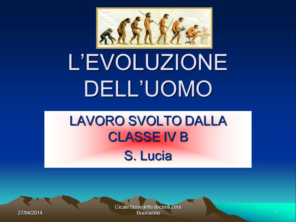 27/04/2014Cicale Benedetta docenti Zeni Buonanno2 SCIMMIA ANTROPOMORFA Le scimmie antropomorfe comparvero sulla Terra circa 15 milioni di anni fa.