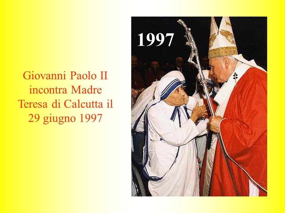 Giovanni Paolo II incontra Madre Teresa di Calcutta il 29 giugno 1997 1997