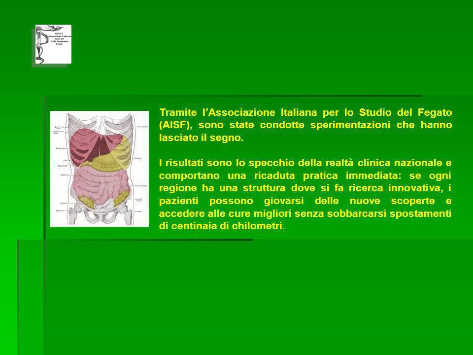 Tramite lAssociazione Italiana per lo Studio del Fegato (AISF), sono state condotte sperimentazioni che hanno lasciato il segno.