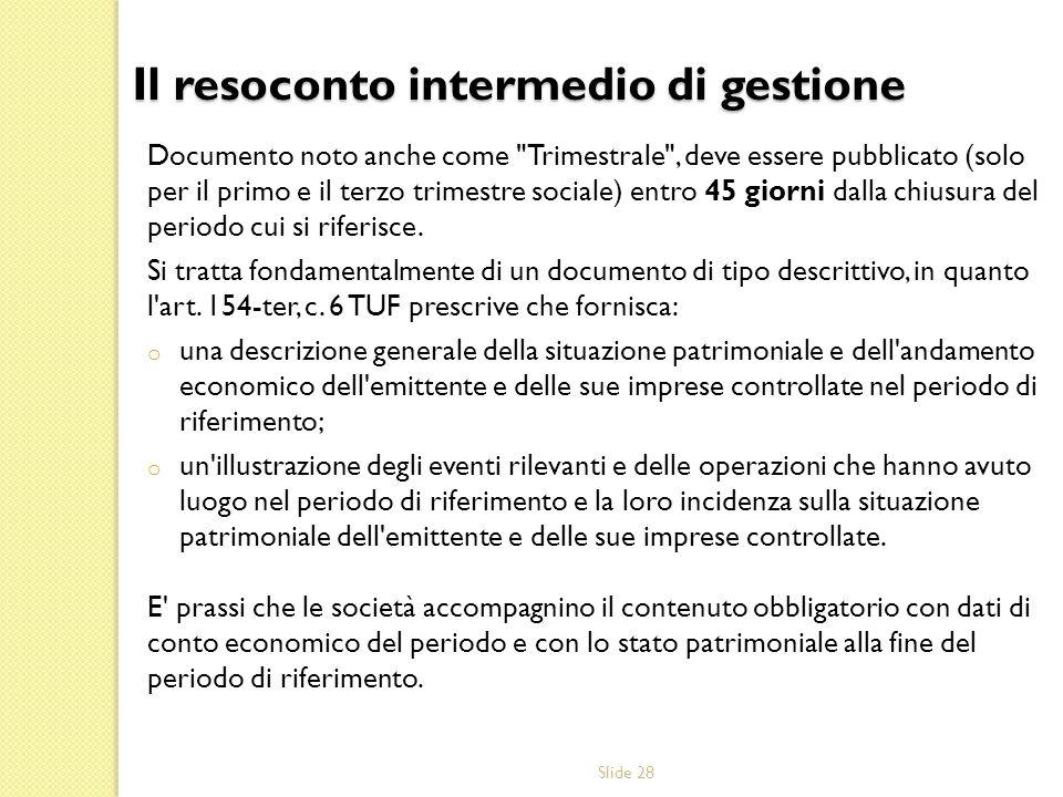 Slide 28 Documento noto anche come