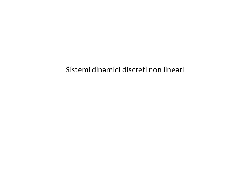 Sistemi dinamici discreti non lineari