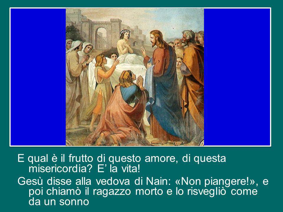 Questa «compassione» è lamore di Dio per luomo, è la misericordia, cioè latteggiamento di Dio a contatto con la miseria umana, con la nostra indigenza