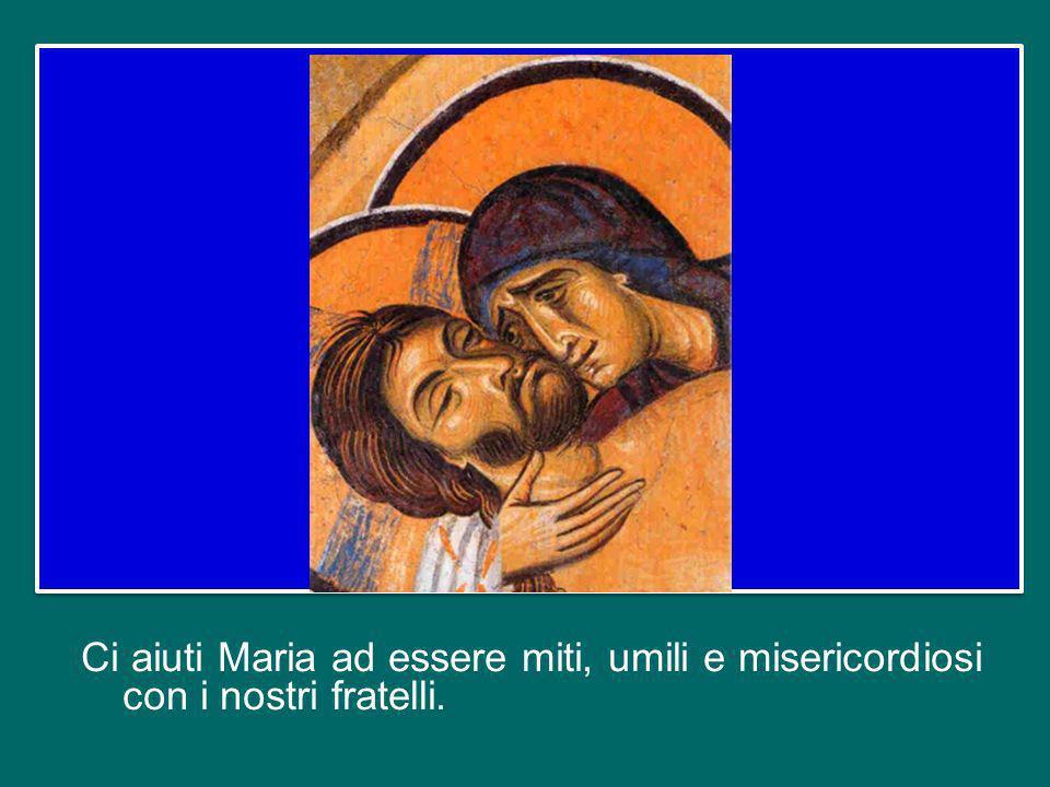 Rivolgiamoci alla Vergine Maria: il suo cuore immacolato, cuore di madre, ha condiviso al massimo la «compassione» di Dio, specialmente nellora della