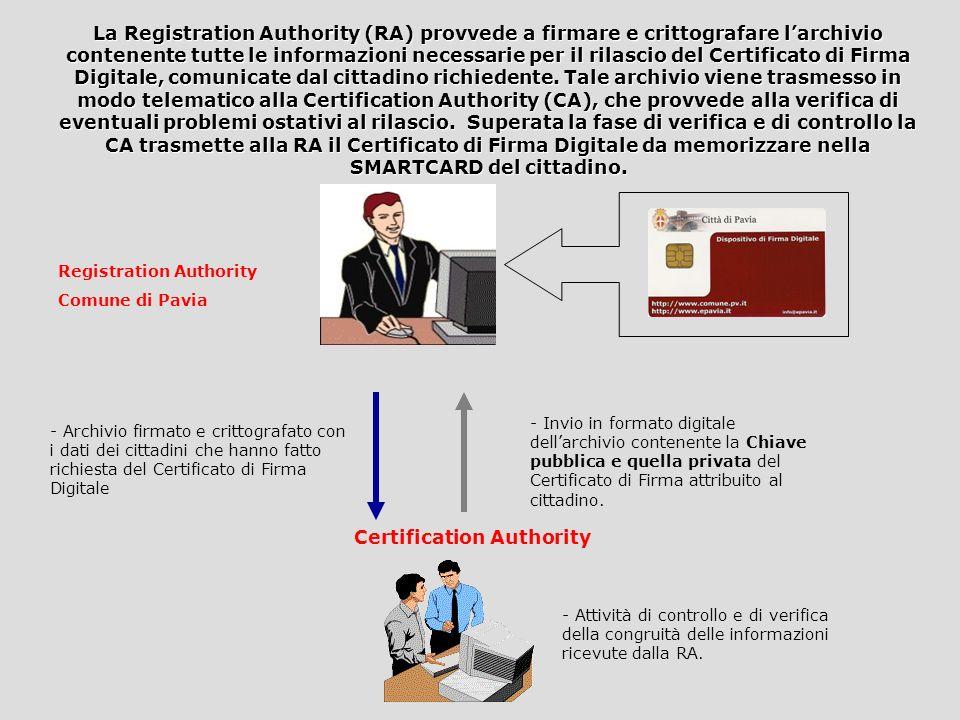 a persona richiedente il certificato di firma digitale può recarsi personalmente presso gli Uffici dellU.R.P. per la compilazione di un apposito modul