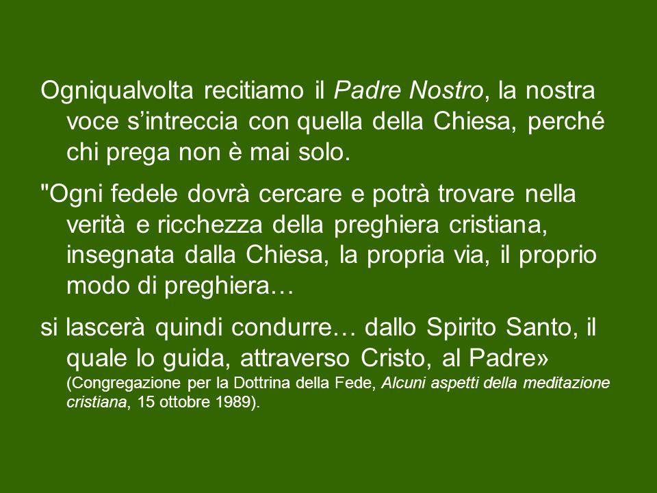 Santa Teresa dAvila invitava le sue consorelle dicendo: