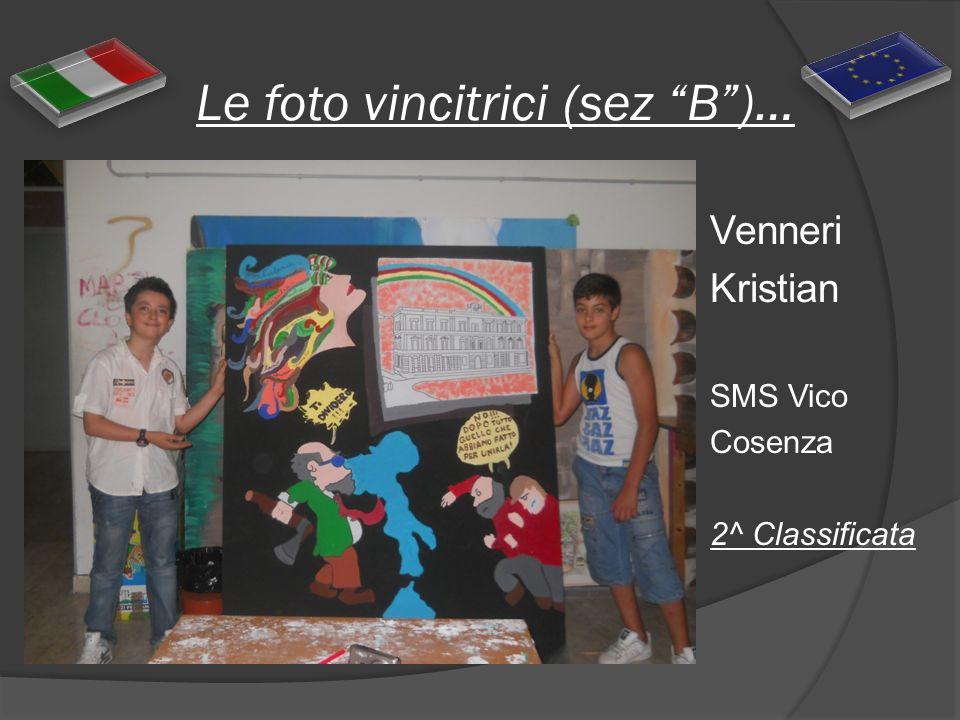 Le foto vincitrici (sez B)… Venneri Kristian SMS Vico Cosenza 2^ Classificata