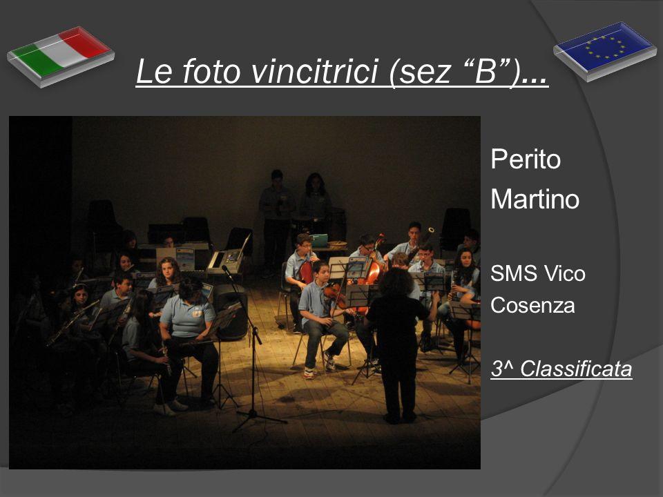 Le foto vincitrici (sez B)… Perito Martino SMS Vico Cosenza 3^ Classificata