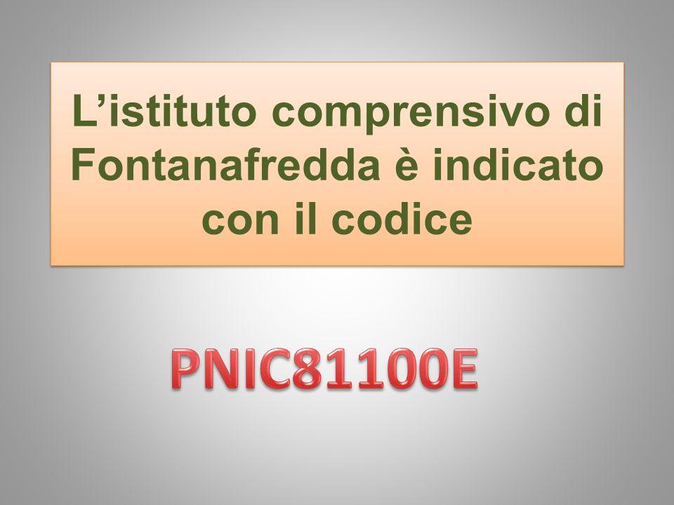 Listituto comprensivo di Fontanafredda è indicato con il codice