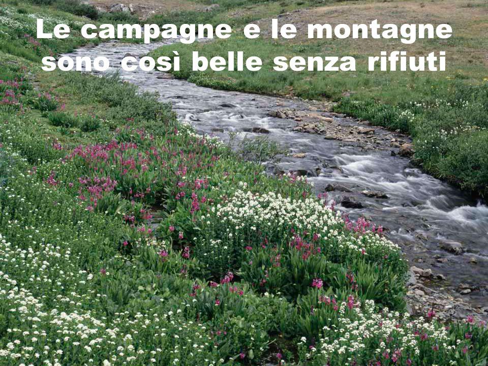Le campagne e le montagne sono così belle senza rifiuti