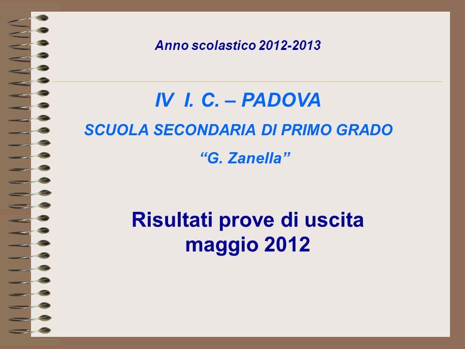 Anno scolastico 2012-2013 IV I. C. – PADOVA SCUOLA SECONDARIA DI PRIMO GRADO G.