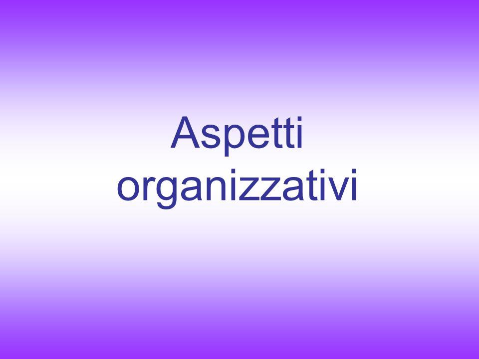 Aspetti organizzativi