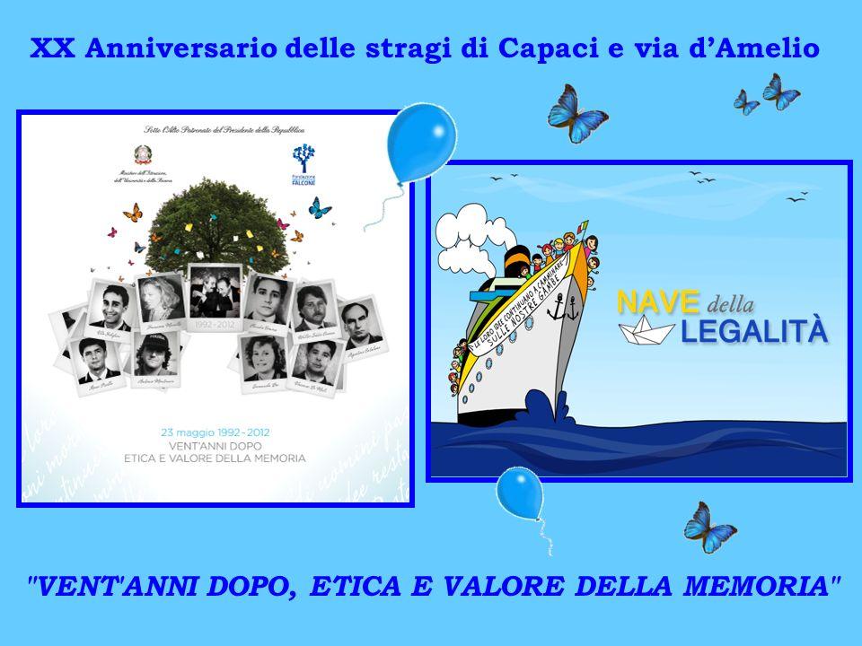 XX Anniversario delle stragi di Capaci e via dAmelio VENT ANNI DOPO, ETICA E VALORE DELLA MEMORIA