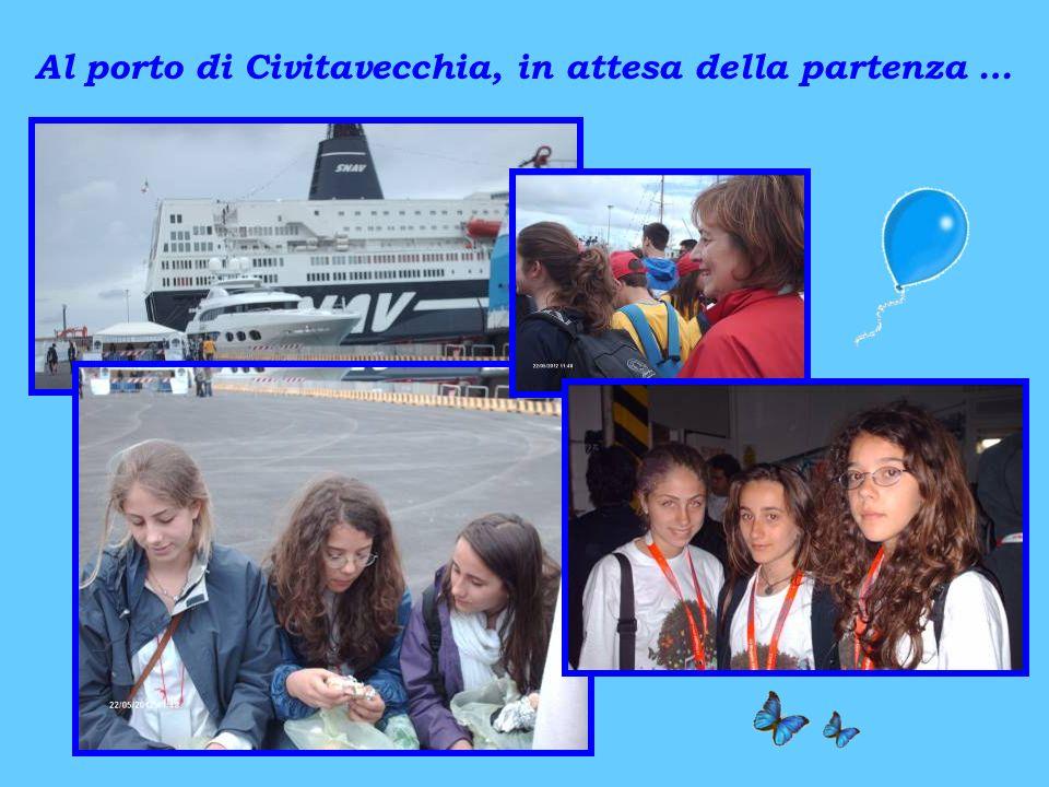 Al porto di Civitavecchia, in attesa della partenza …