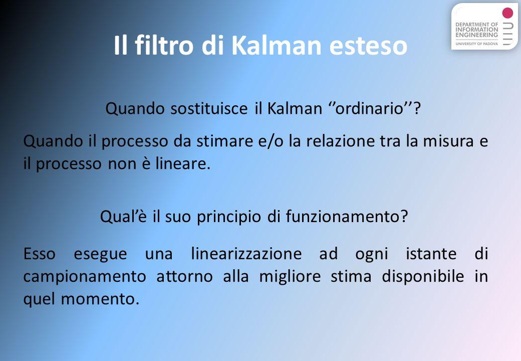 Il filtro di Kalman esteso Quando sostituisce il Kalman ordinario.